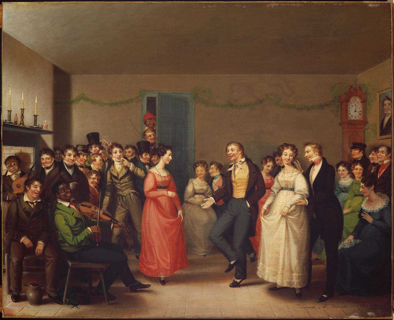 """Rustic Dance After a Sleigh Ride"" (William Sidney Mount, 1830) Black fiddler plays at a house dance for white dancers Bequest of Martha C. Karolik for the M. and M. Karolik Collection of American Paintings, 1815–1865. Photograph: © Museum of Fine Arts, Boston"