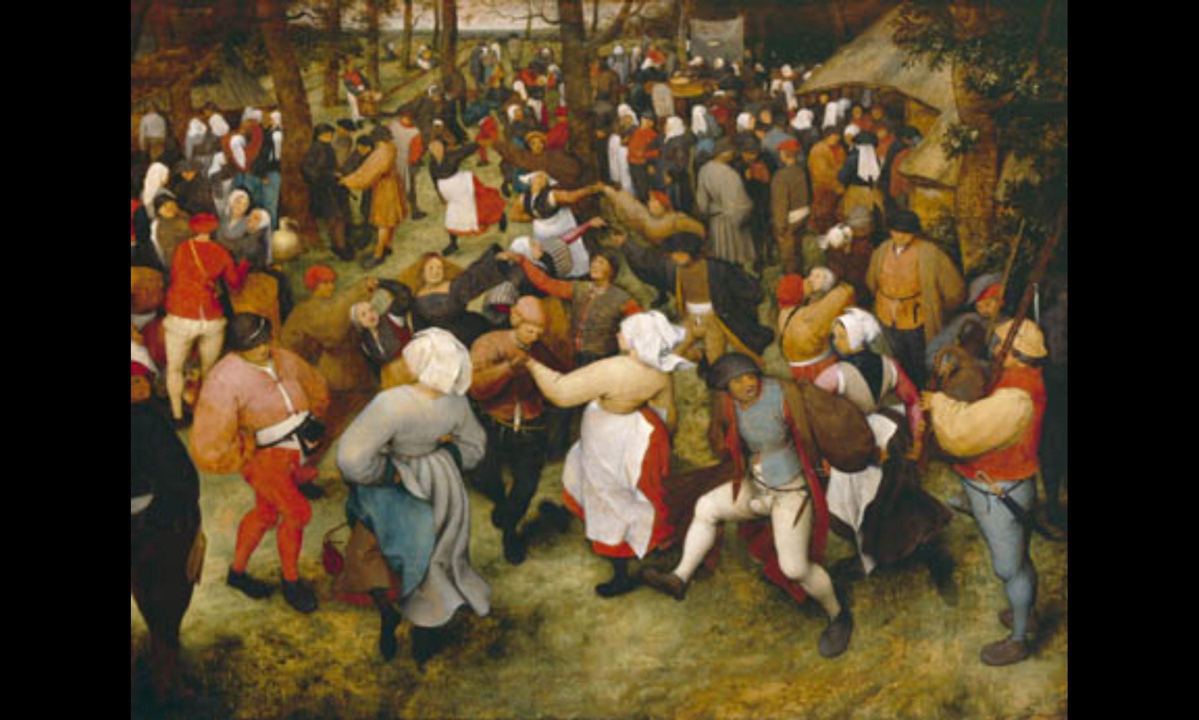 """""""The Wedding Dance"""" – Peasant dance in Netherlands (Pieter Bruegel the Elder, 1566)"""