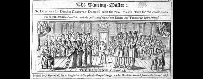 English Country Dance John Playford's  The Dancing Master , 1698 (Library of Congress, Music Division)