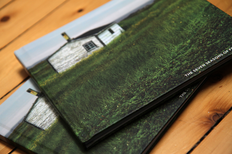 Book describing the seven seasons of Fogo Island through poetry and images