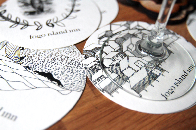 Coasters based on wallpaper designs / Illustrations by Nick Herder