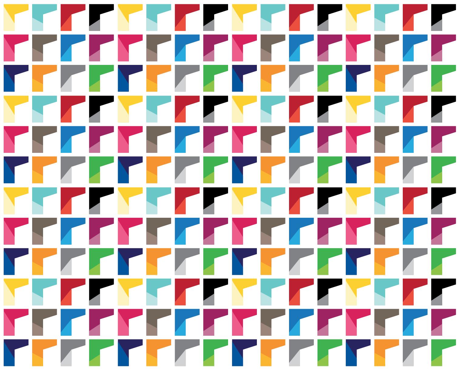 Full colour brand pattern