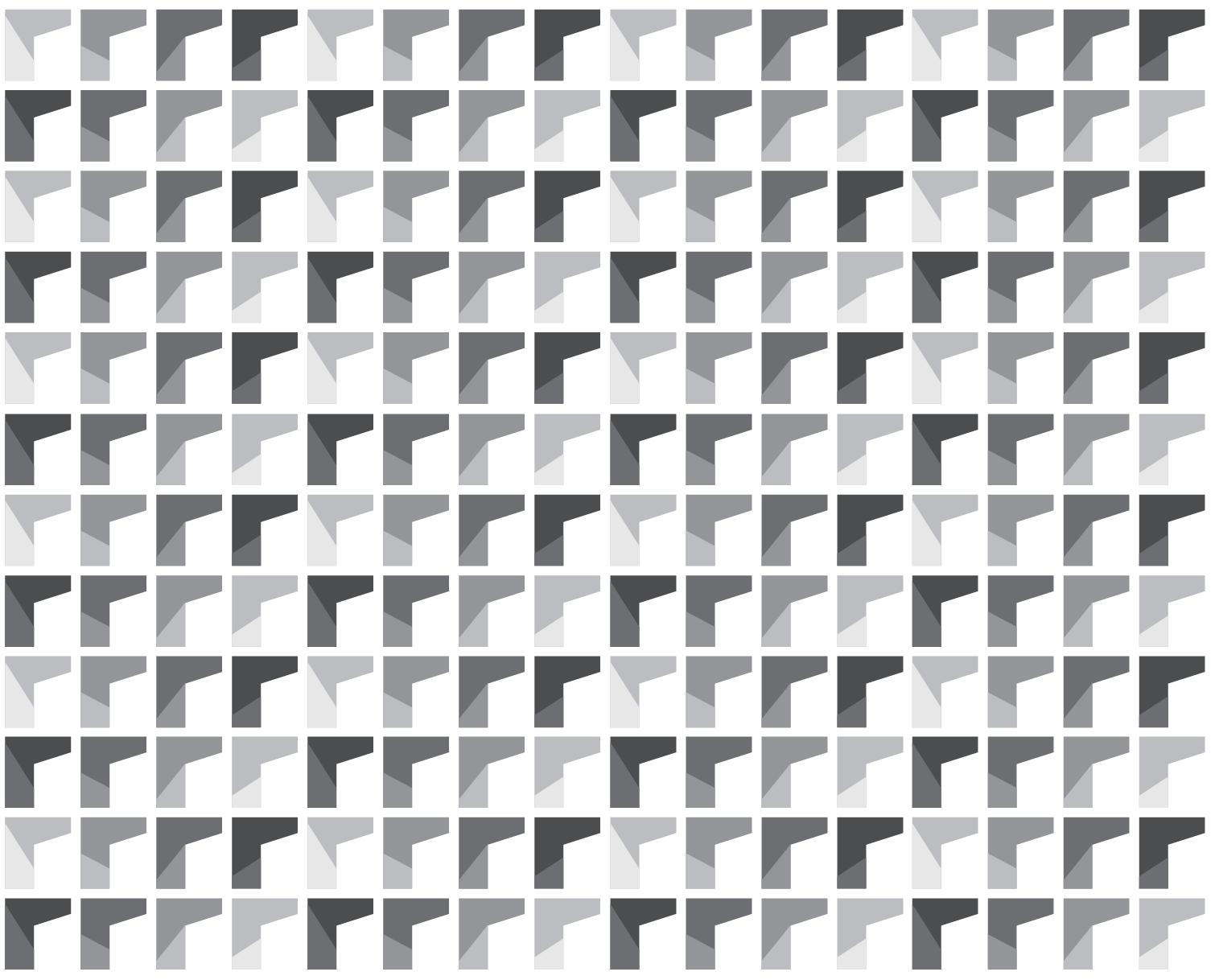 Brand pattern in grey scale