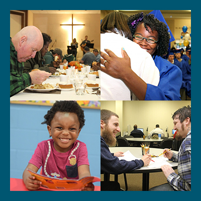 Union Gospel mission - Bible studies, serve meals, advocate, teach/mentor, childcare, tutoring, maintenance, pray.