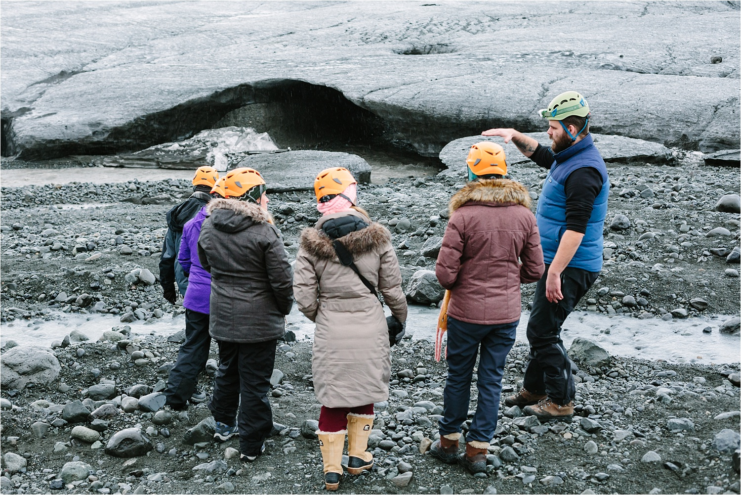 This is when we met  Gísli - he was our glacier tour guide but became a good friend!  Misti has even gone back to visit him recently!