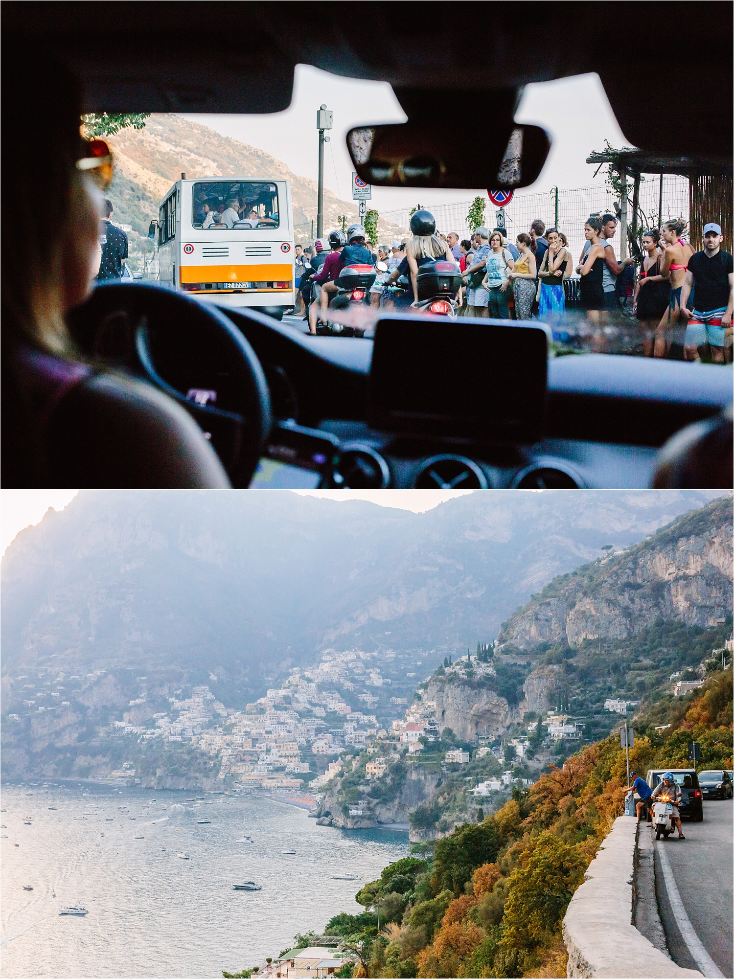 Cliff driving in Amalfi. I give Ashley props because I knew she was certainly terrified at times. There's no way to describe how curvy and narrow these roads were. Just wait until the bigger blog post to see more!