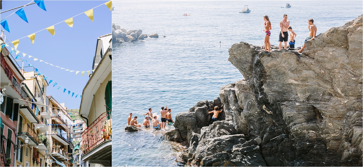 Cinque Terre was my favorite. We bought bikinis in a little shop in town and jumped off those cliffs. I have it on video too! ;)