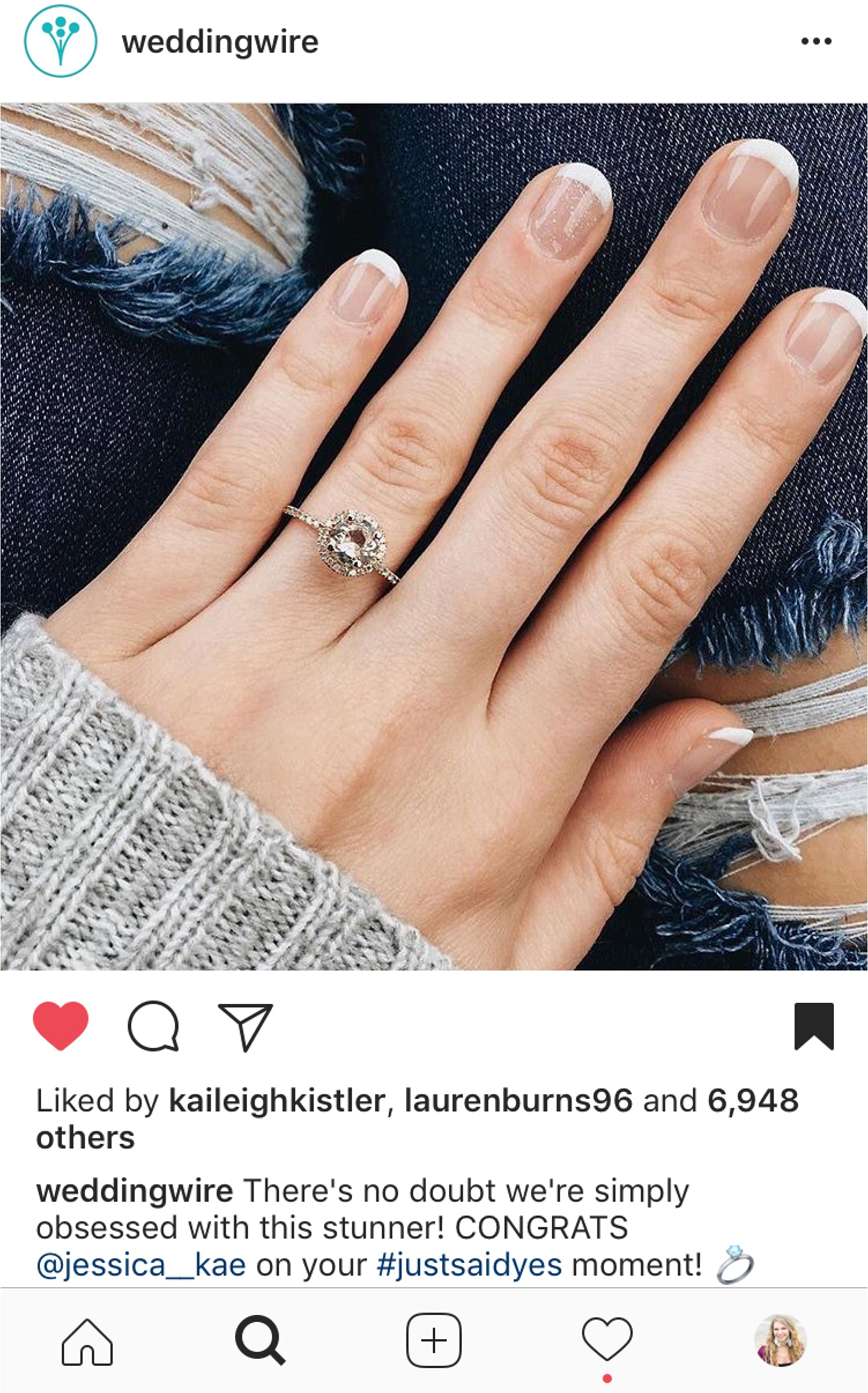 My ring even got featured on  Wedding Wire ! This was such a fun surprise.