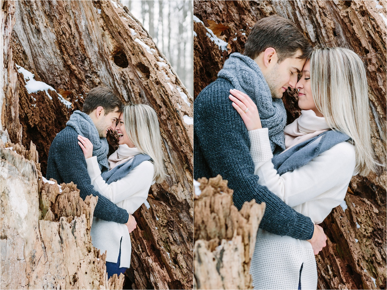 Alex + Becca's Engagement Photography Session in Poland, Ohio at Poland Municipal Forest