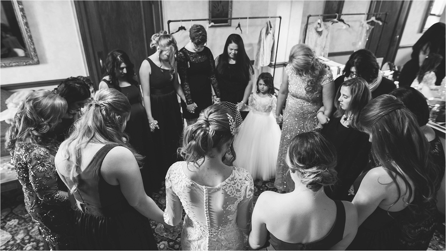 Praying before the ceremony. <3