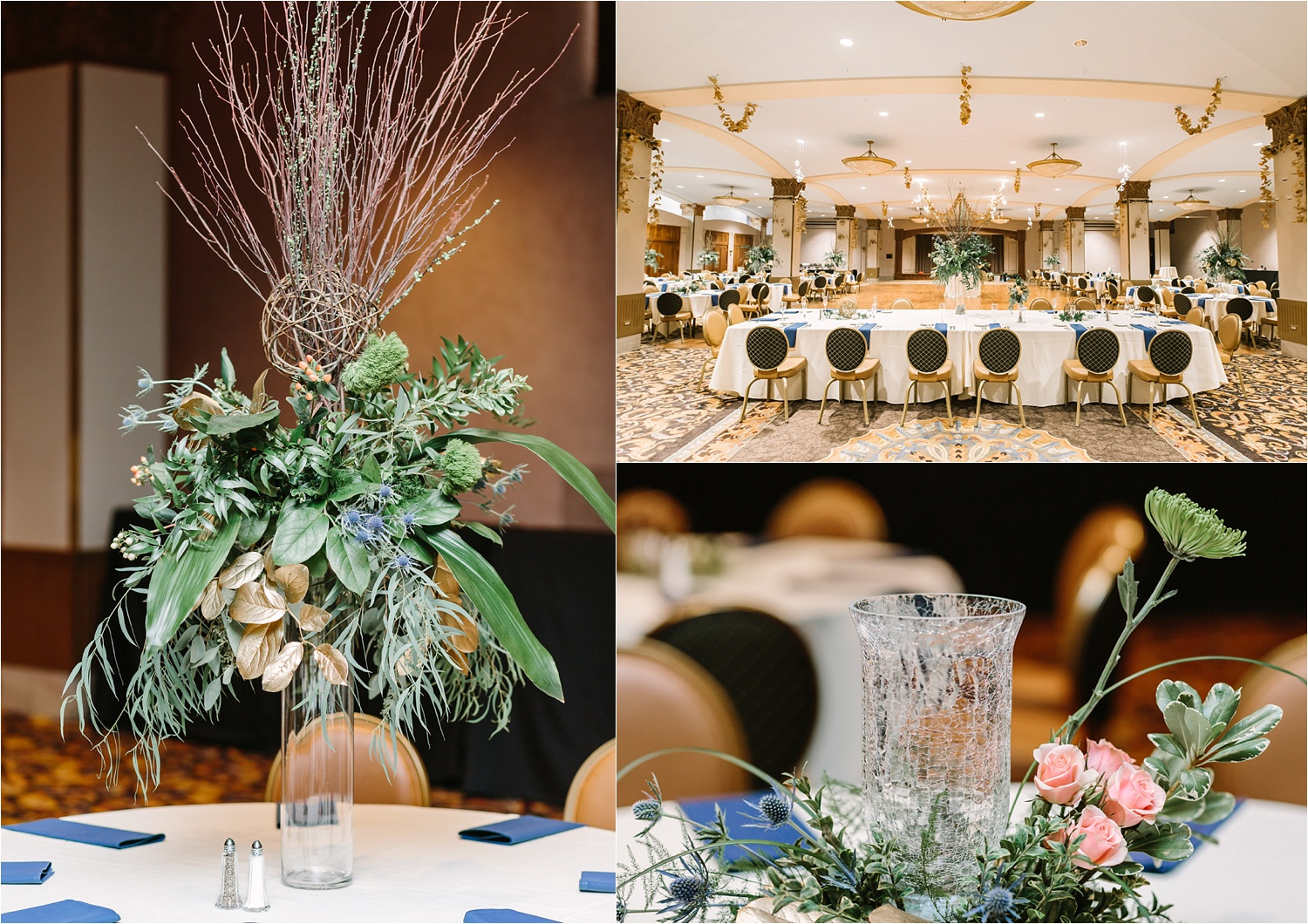 Time for the reception to begin! Have you ever seen more unique centerpieces?