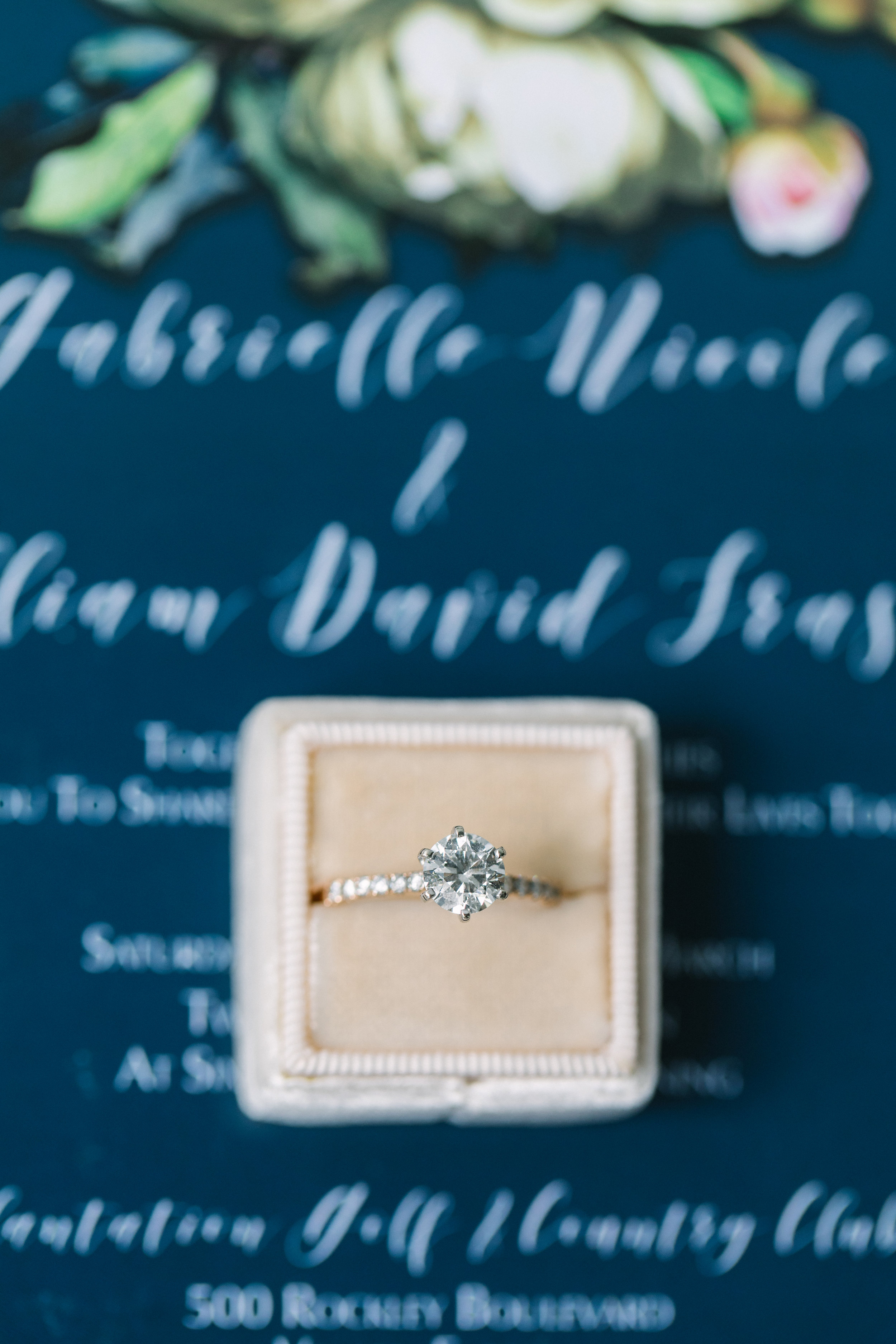 Engagement ring photo of wedding details