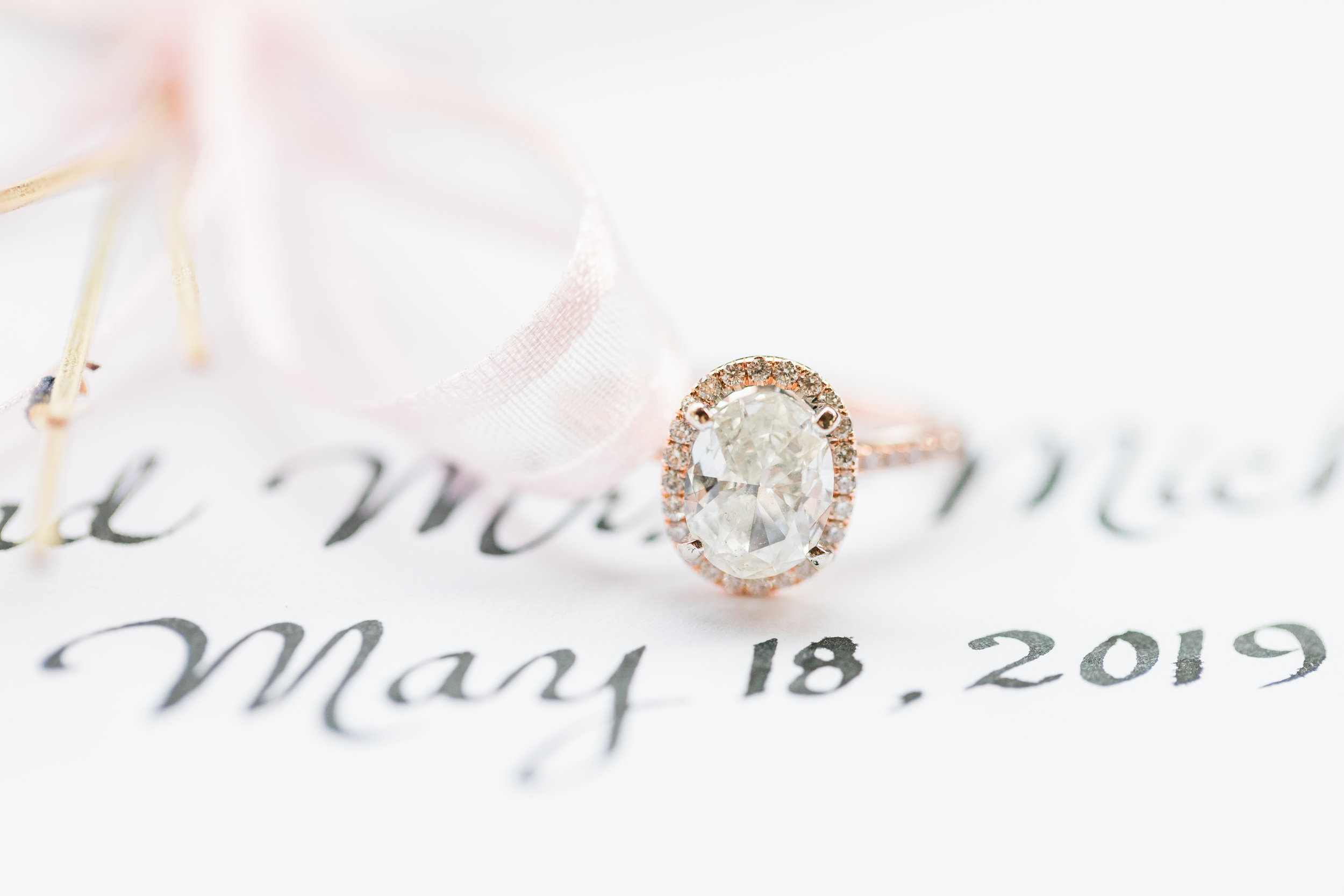 Beautiful styled wedding ring photo from Youngstown wedding