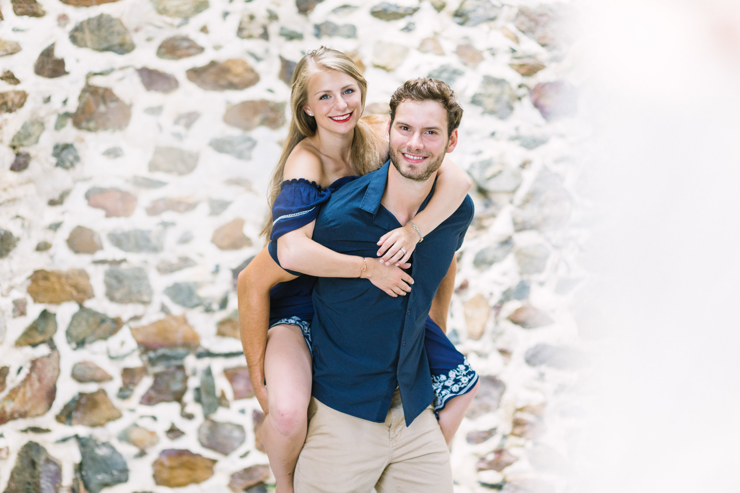 St. John engagement photos at Cinnamon Bay Plantation Ruins