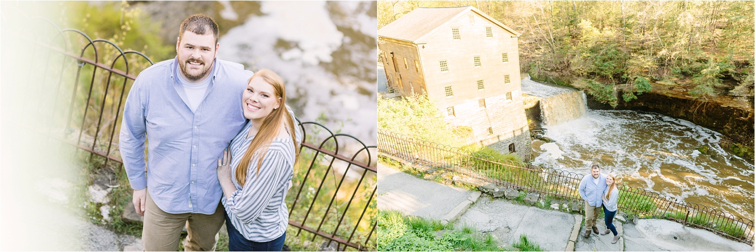 spring engagement session at lanterman's mill