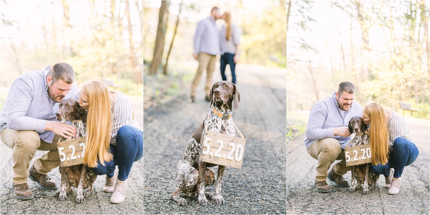 Lanterman's Mill engagement photos with dog