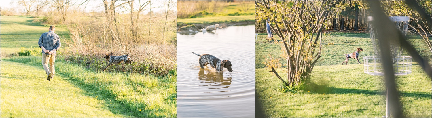 She was completely in her element at Austintown Park and even jumped in the pond! haha