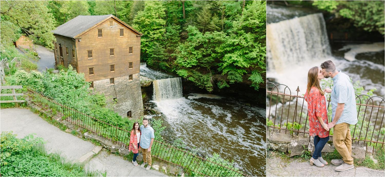 Lanterman's Mill engagement photos at the falls