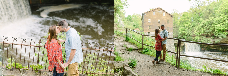 Lanterman's Mill engagement photos under the bridge