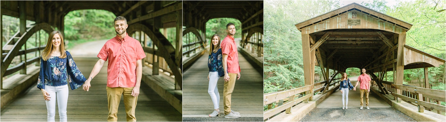 Lanterman's Mill engagement photos at the wooden covered bridge