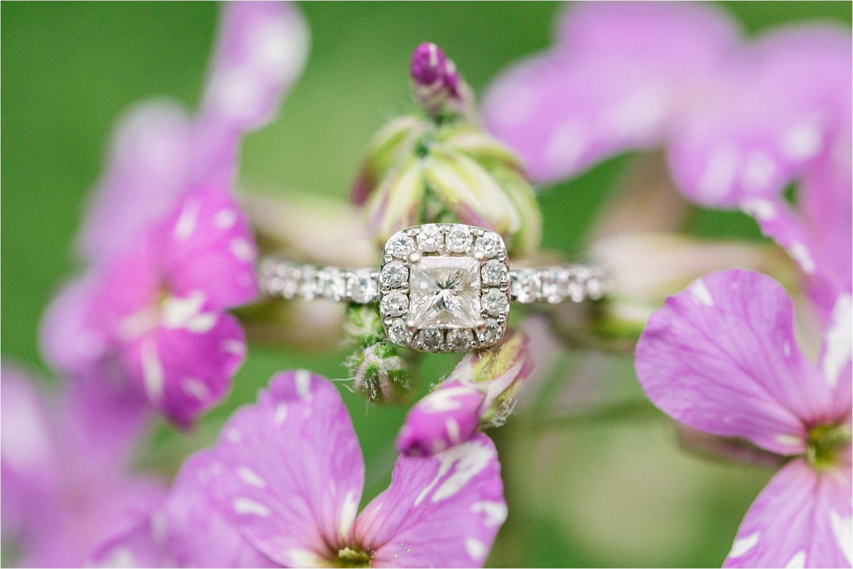 Lanterman's Mill engagement photos of engagement ring