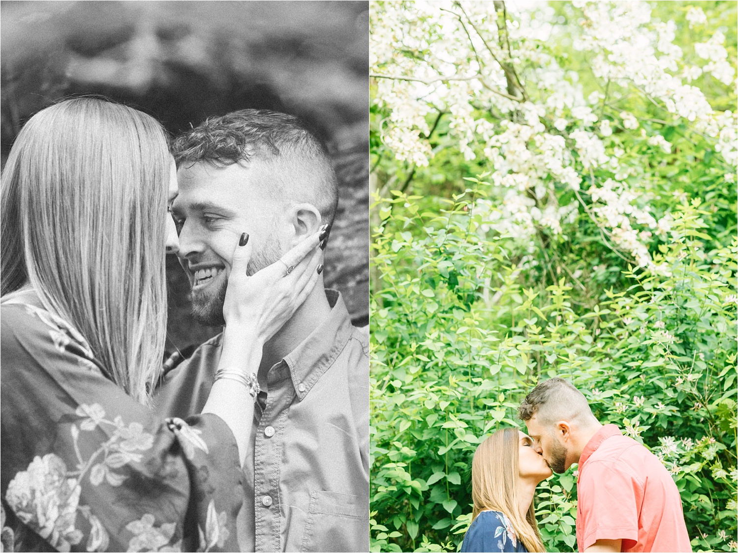 Lanterman's Mill lovely natural engagement photos