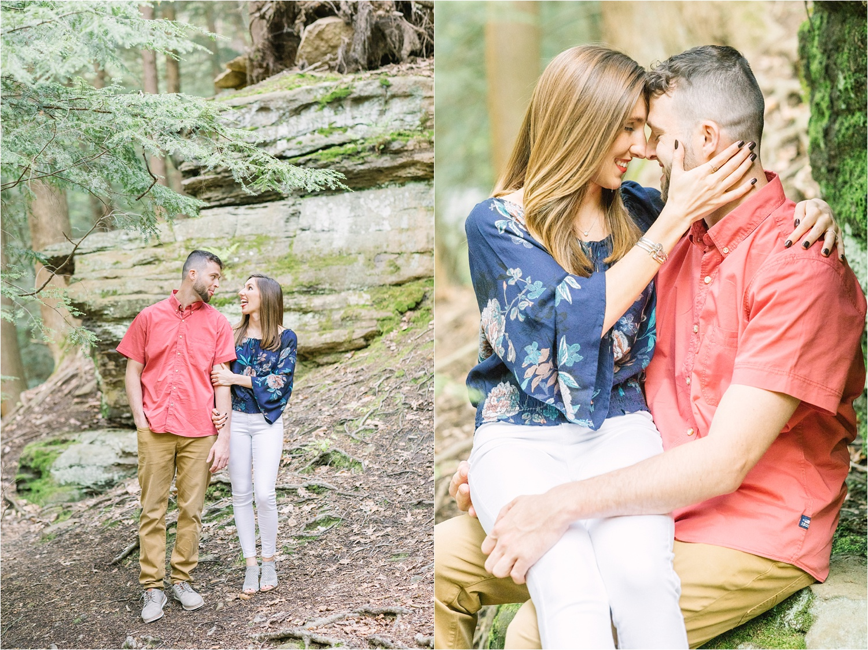 funny Lanterman's Mill engagement photos