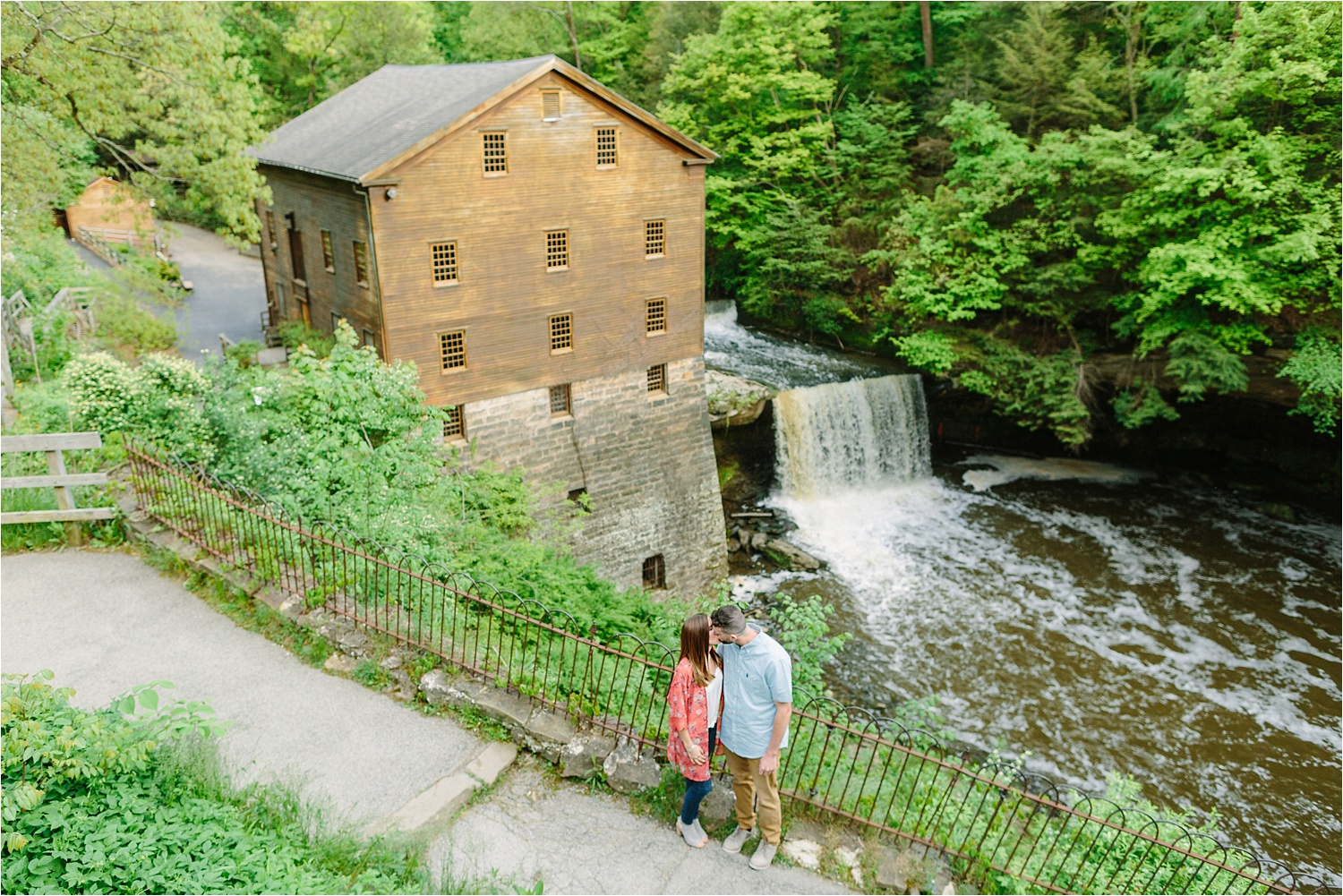Lanterman's Mill spring engagement photos