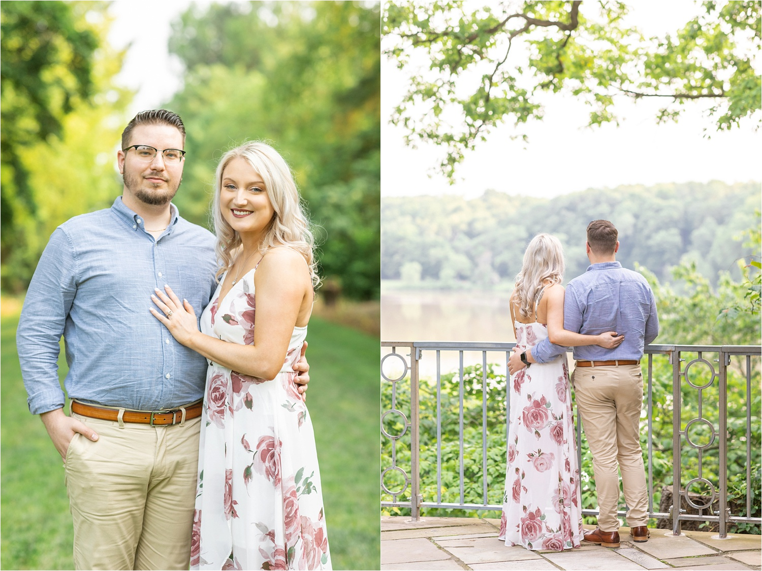 fellows riverside gardens engagement photos in May