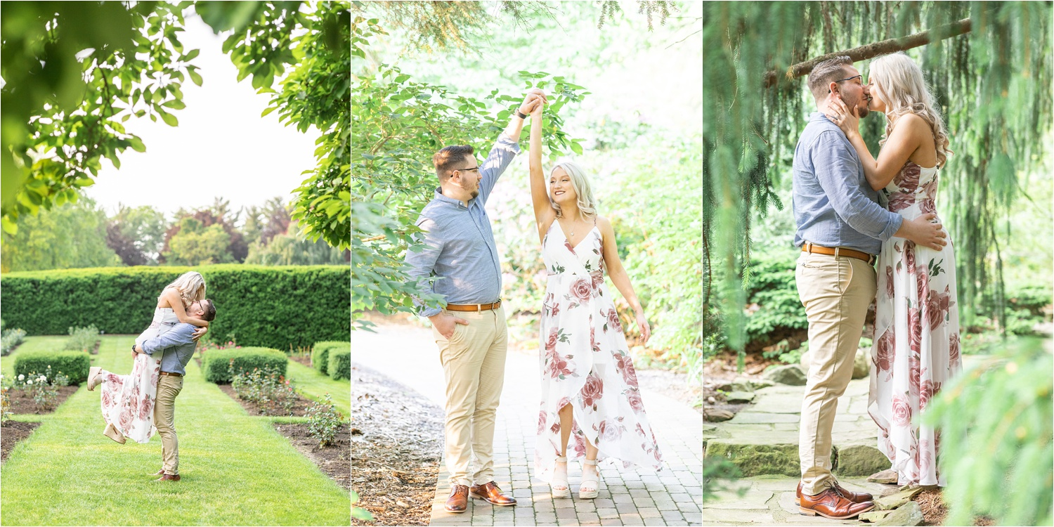 engagements photos at fellows riverside gardens