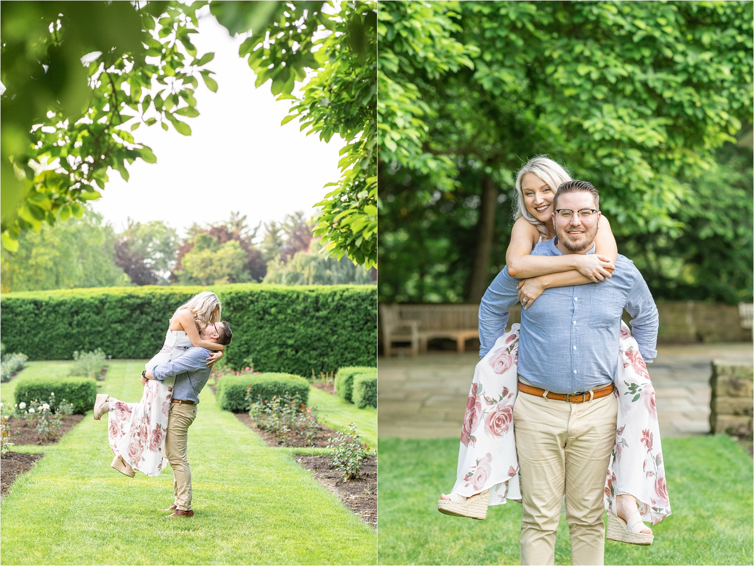 adorable engagement photos at mil creek park in youngstown ohio