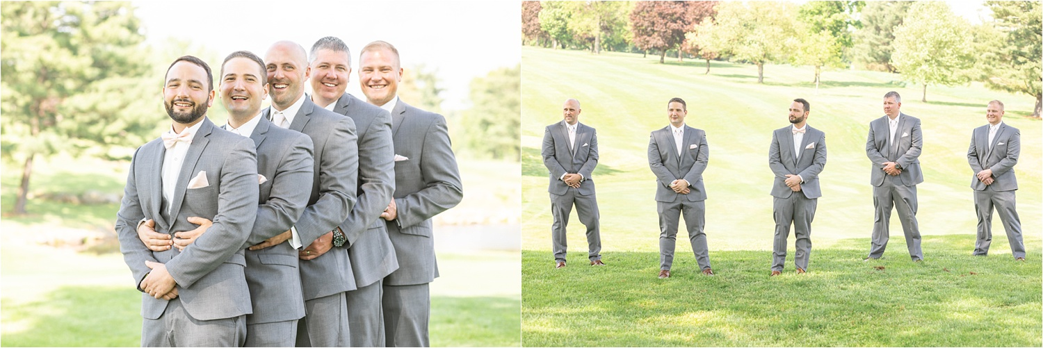 groomsmen photos at tippecanoe country club in canfield, oh