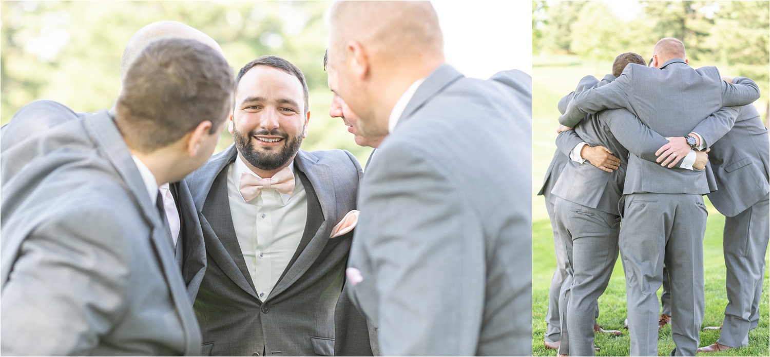 groomsmen photos at tippecanoe country club in canfield, ohio