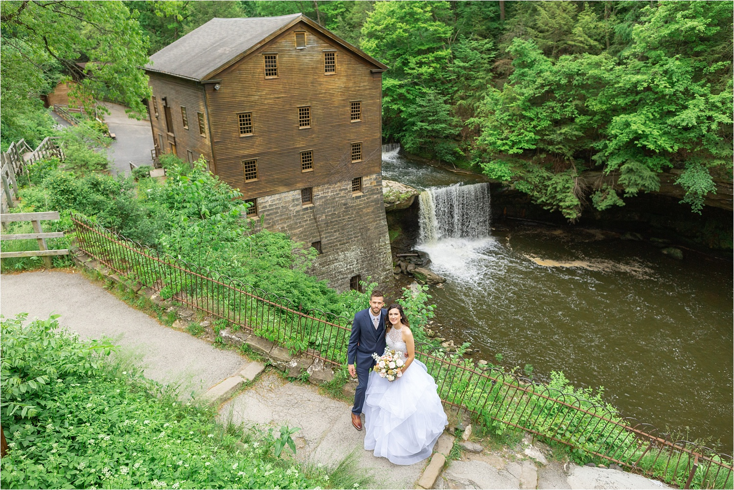 lanterman's mill wedding photo