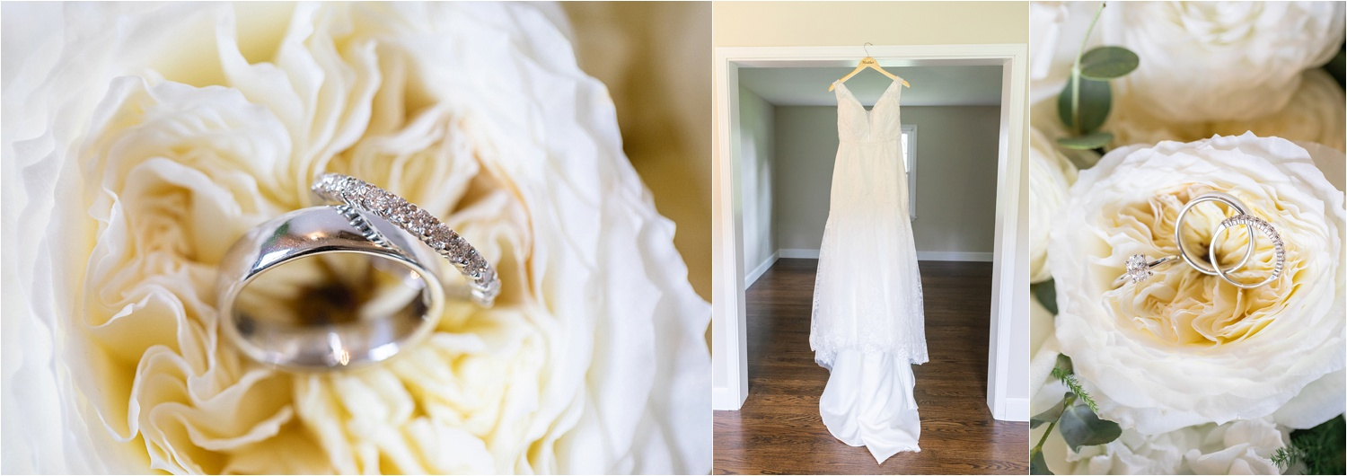 gorgeous wedding rings styled in floral for youngstown ohio wedding