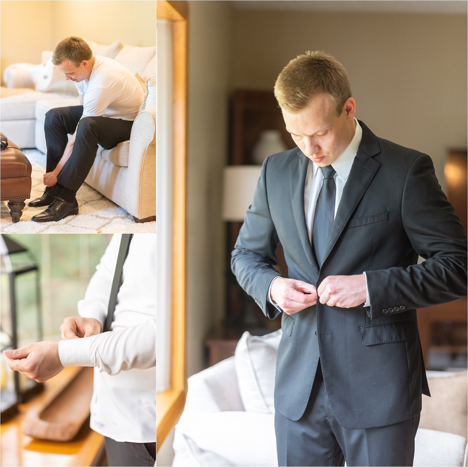 groom getting ready photos for youngstown ohio wedding