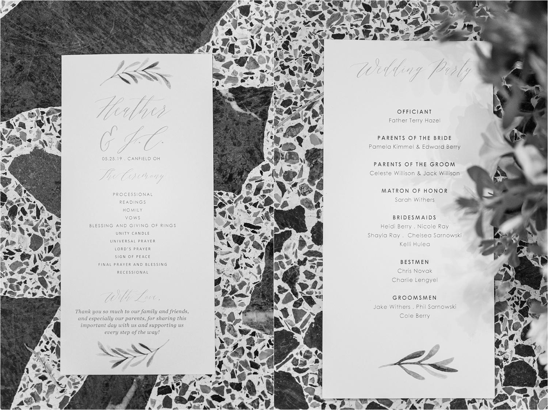 youngstown ohio wedding program