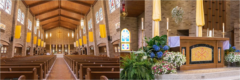 St. Michaels canfield catholic church wedding ceremony