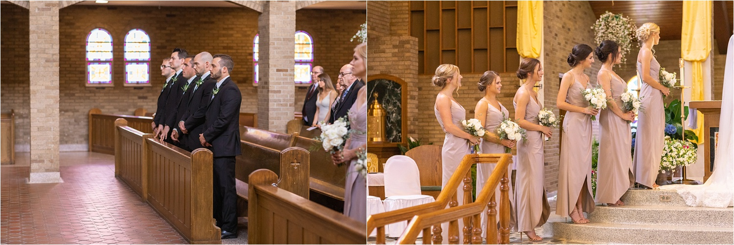 bridesmaids and groomsmen at youngstown ohio wedding