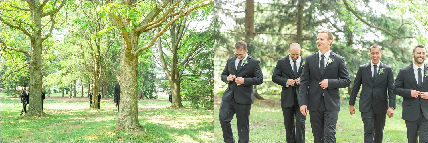 funny groomsmen photos from youngstown wedding at boardman park