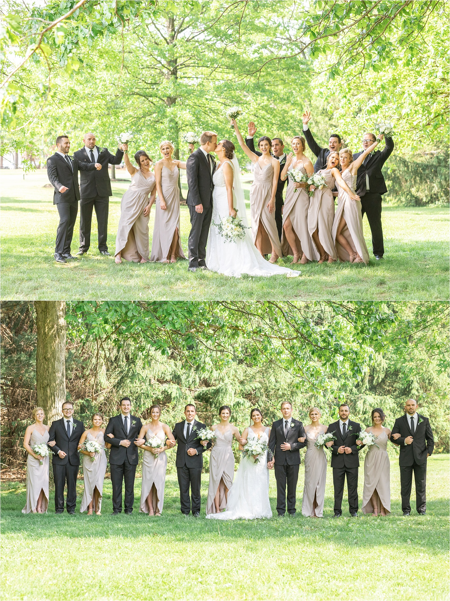 funny bridal party photos of youngstown ohio wedding