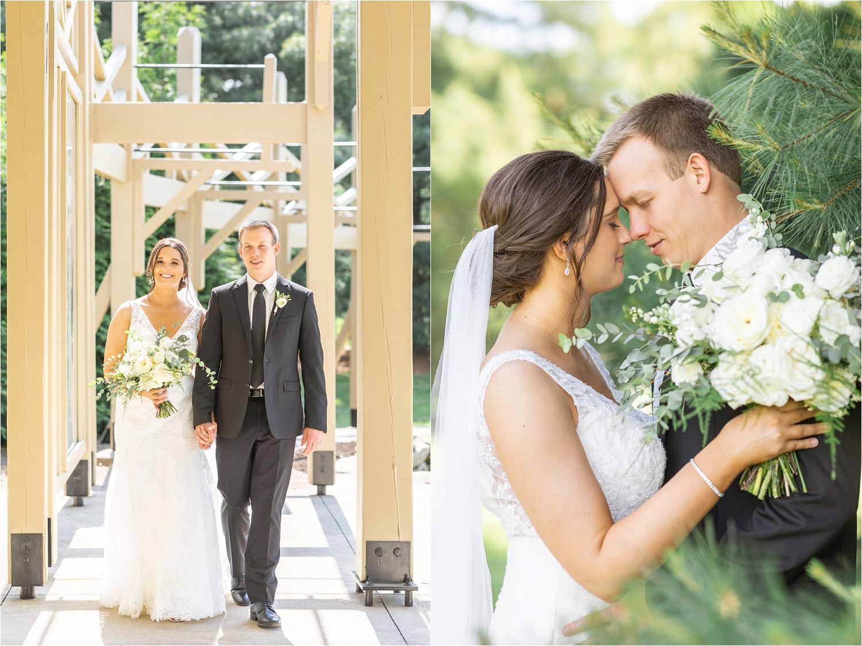formal bridal photos of bride and groom at boardman park