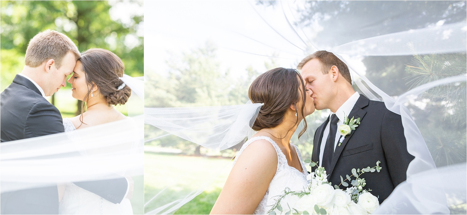 gorgeous bridal photos of youngstown wedding