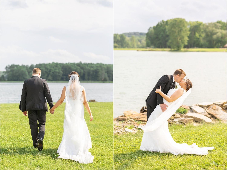 stunning lake side bride and groom photos