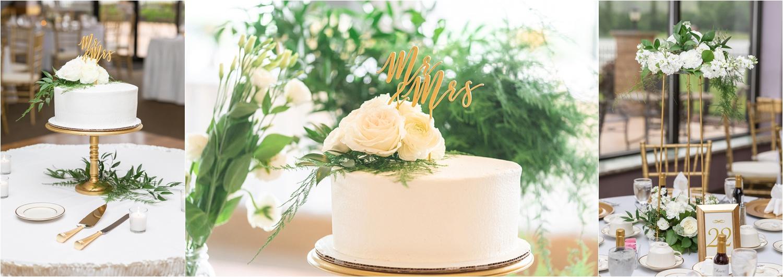 elegant floral designed wedding cake for youngstown ohio wedding