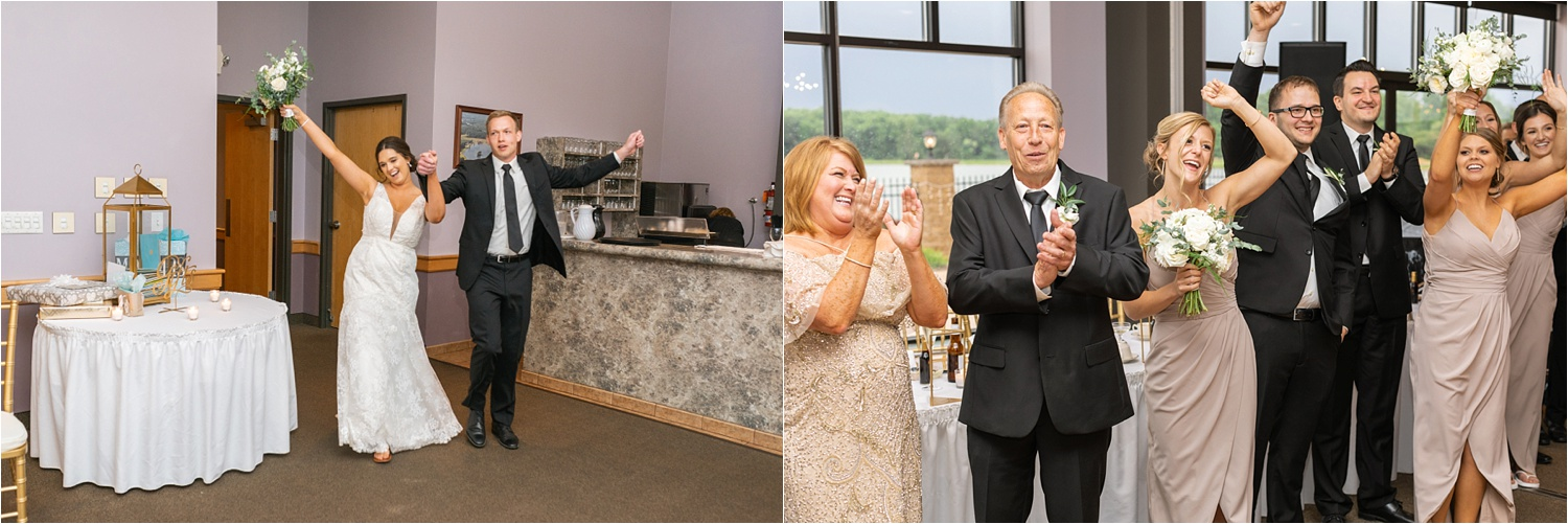 youngstown bride and groom introduction and celebration