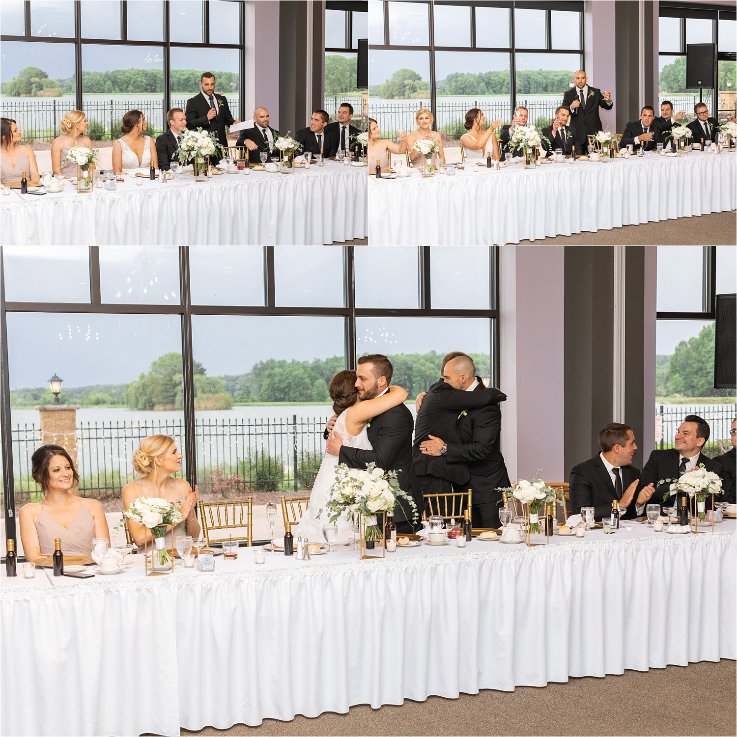 youngstown ohio wedding toasts at avian on the water