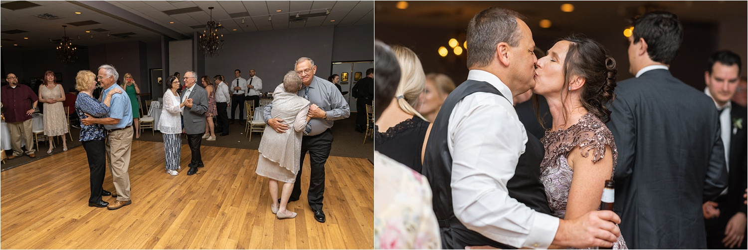 grandparents and parents dance at youngstown wedding