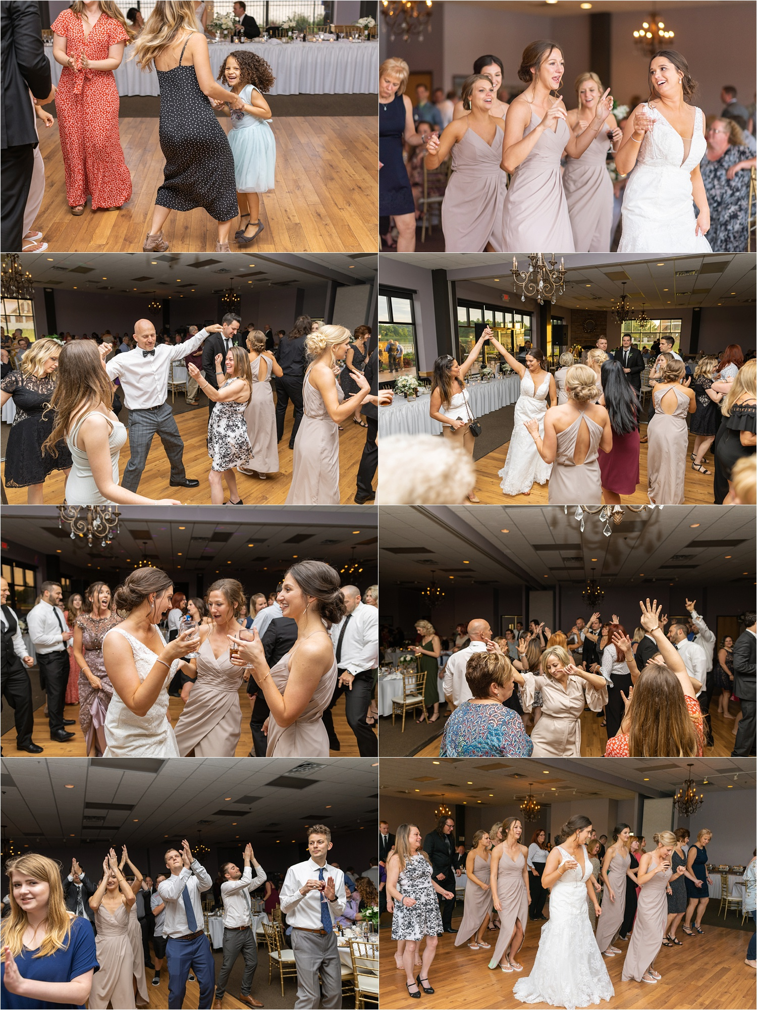 youngstown wedding reception dancing photos at avion on the water