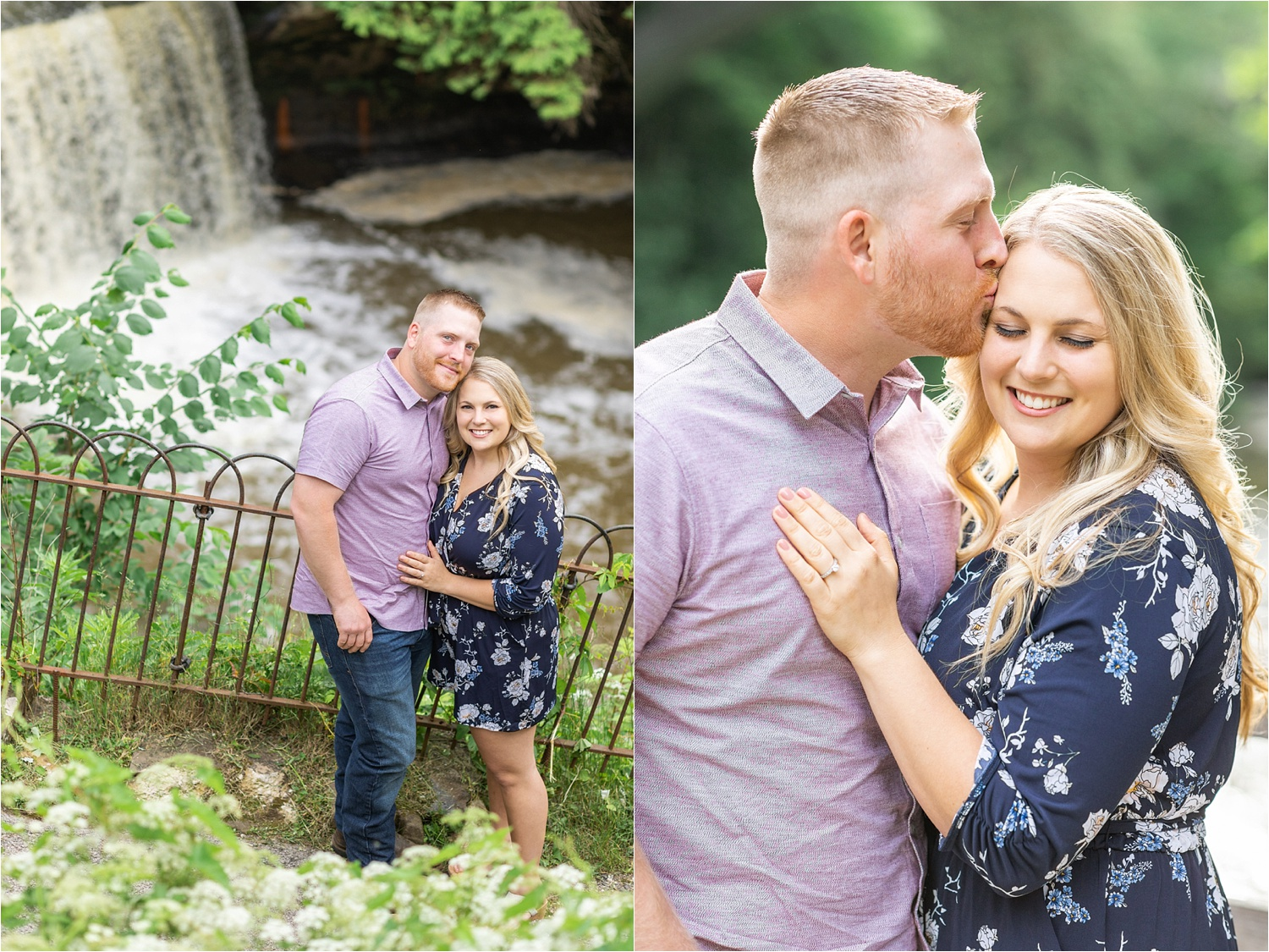 lanterman's mill engagement photos at mill creek park in youngstown ohio